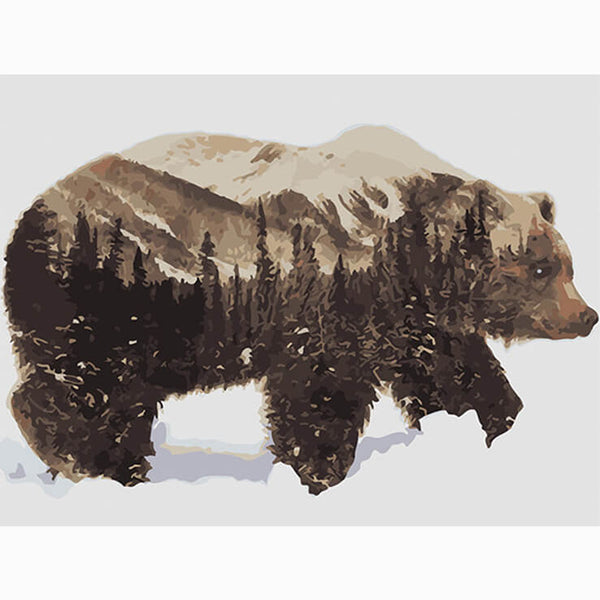 Diamond Painting Bear With Nature - OLOEE