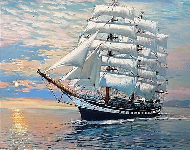 Big Sailing Boat 5d Diamond Painting Kits Oloee
