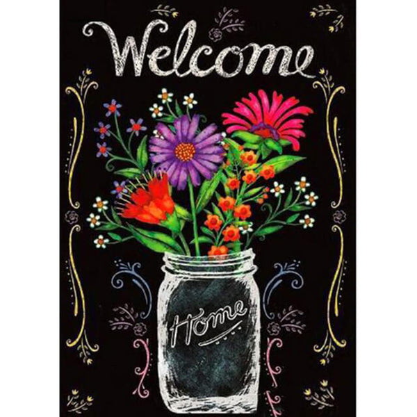 Diamond Painting Welcome Home Vase - OLOEE