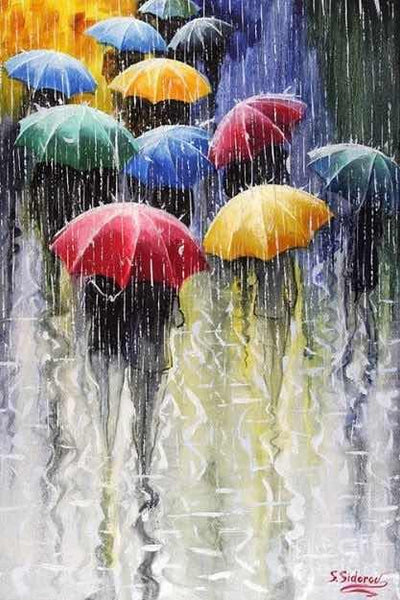 Diamond Painting Rainy Street - OLOEE