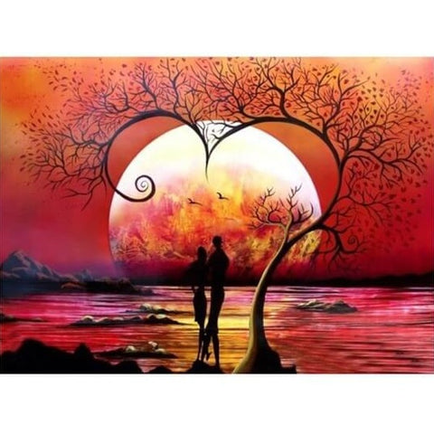 Diamond Painting Romantic Lovers Night - OLOEE