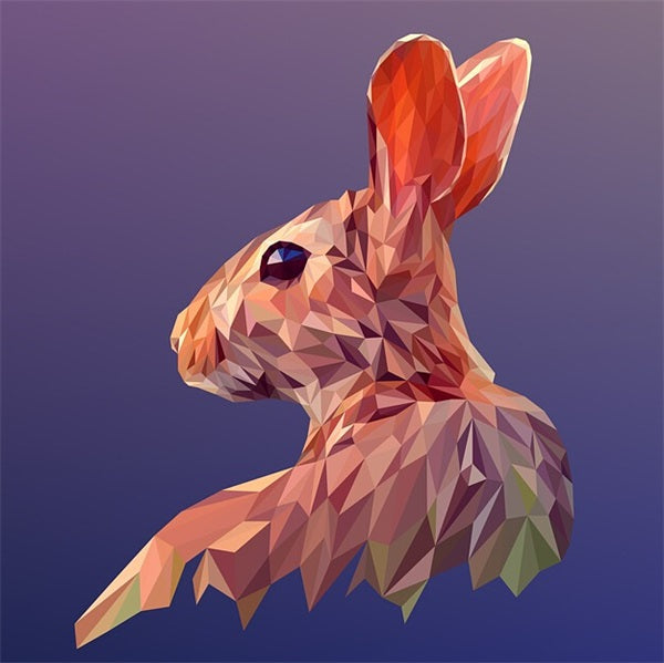Diamond Painting Geometrical Rabbit - OLOEE