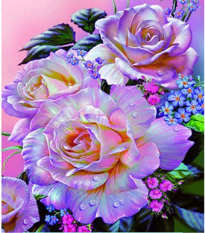 Diamond Painting Romance Rose Flower - OLOEE