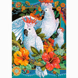 Diamond Painting White Parrots - OLOEE
