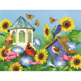 Diamond Painting Sunflowers Bird Nest - OLOEE