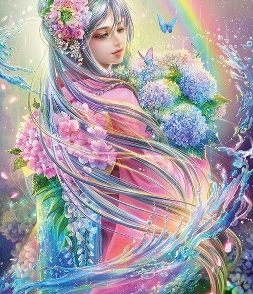 Diamond Painting Flower Fairy - OLOEE