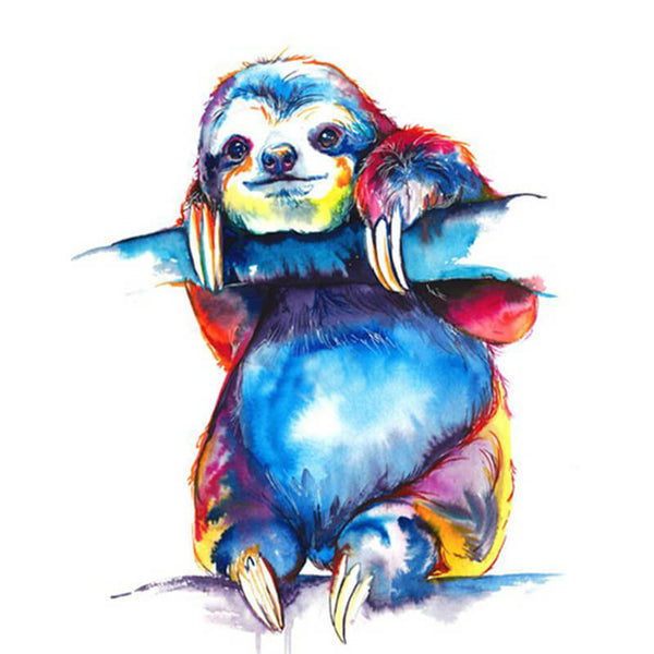 Diamond Painting Watercolor Sloth - OLOEE