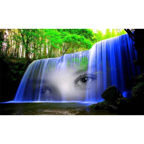 Diamond Painting Blue Beauty Waterfall - OLOEE