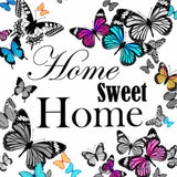Diamond Painting Home Sweet Home Butterflies - OLOEE