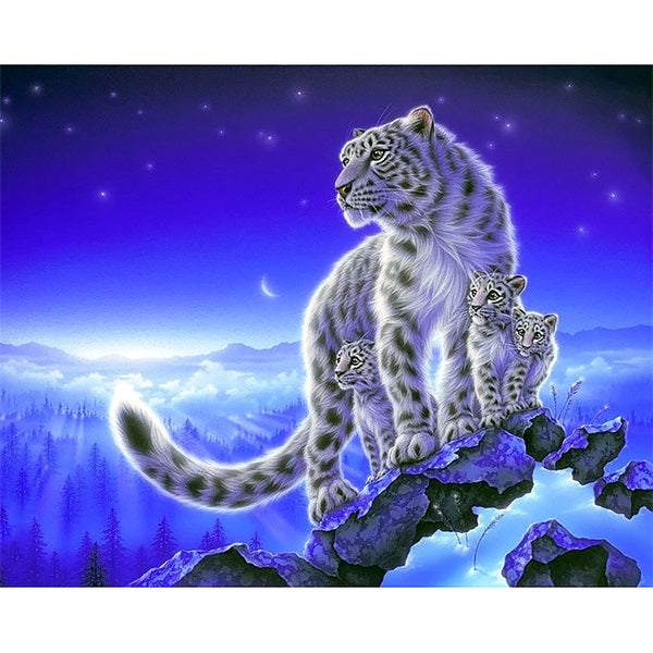 Diamond Painting Leopard Family - OLOEE