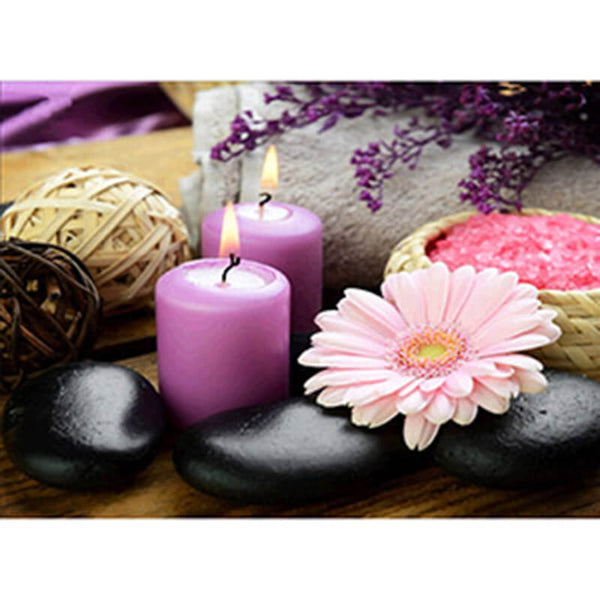 Diamond Painting Spa Flowers And Candles - OLOEE