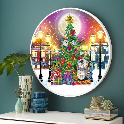 Diamond Painting Hanging Christmas Tree With Frame - OLOEE