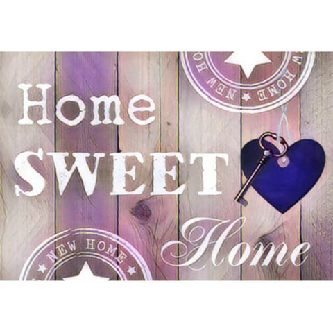 Diamond Painting Home Sweet Home Purple - OLOEE