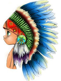 Diamond Painting Native American Child - OLOEE