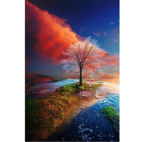 Diamond Painting Seasons Tree Nature - OLOEE