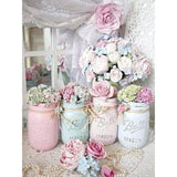Diamond Painting Shabby Chic Mason Jars - OLOEE