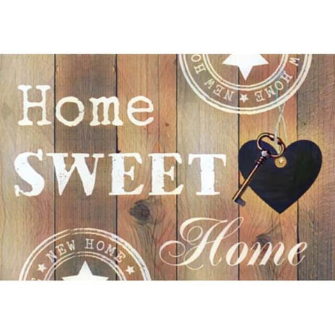 Diamond Painting Home Sweet Home Yellow - OLOEE