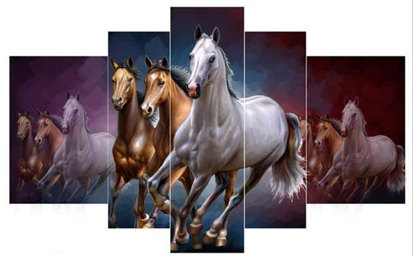Diamond Painting Running Horses Animal - OLOEE
