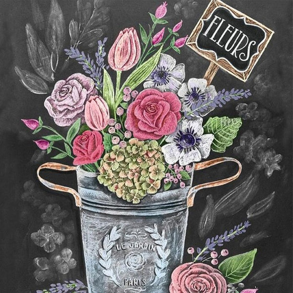 Diamond Painting Fleurs Quotes - OLOEE