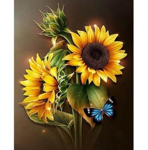 Diamond Painting Sunflower Blooming - OLOEE