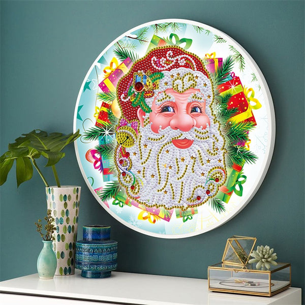 Diamond Painting Hanging Santa Claus With Frame - OLOEE