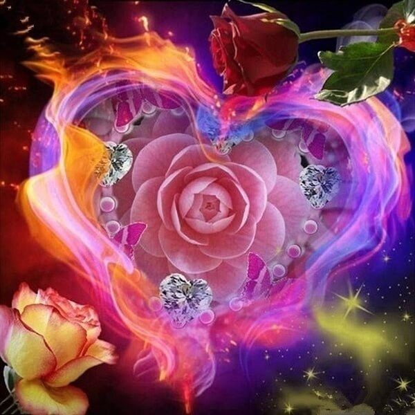 Diamond Painting Enchanted Rose Heart - OLOEE