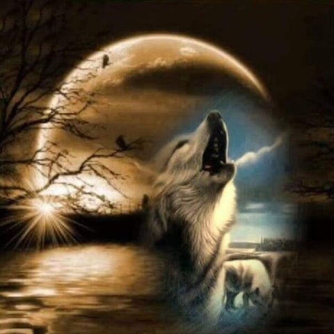 Diamond Painting Howl At The Moon - OLOEE