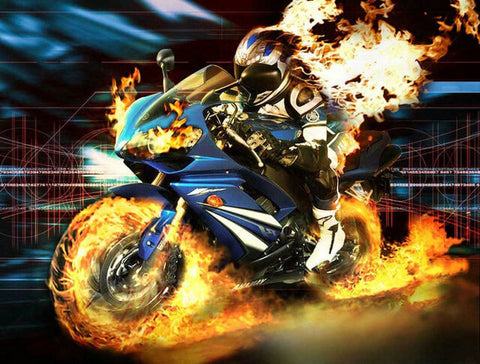 Diamond Painting Furious Motorcycle - OLOEE
