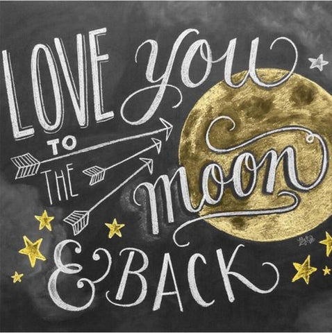 Diamond Painting Love You To The Moon and Back - OLOEE