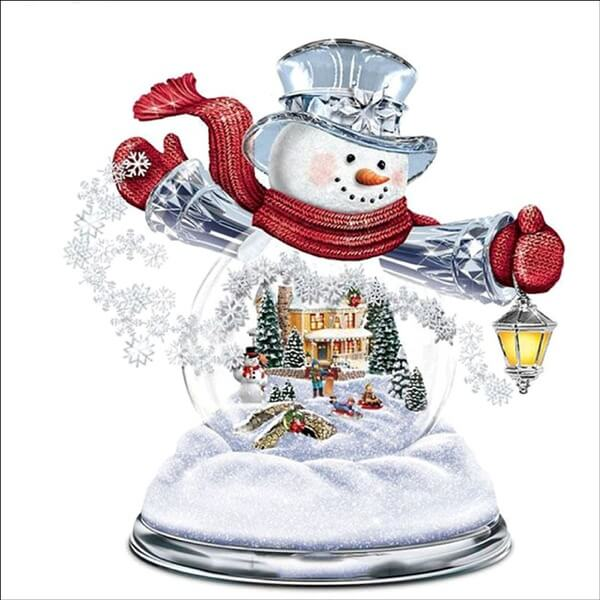 Diamond Painting Snowmen House - OLOEE