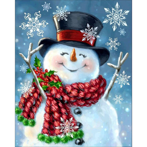 Diamond Painting Smiling Snowman - OLOEE