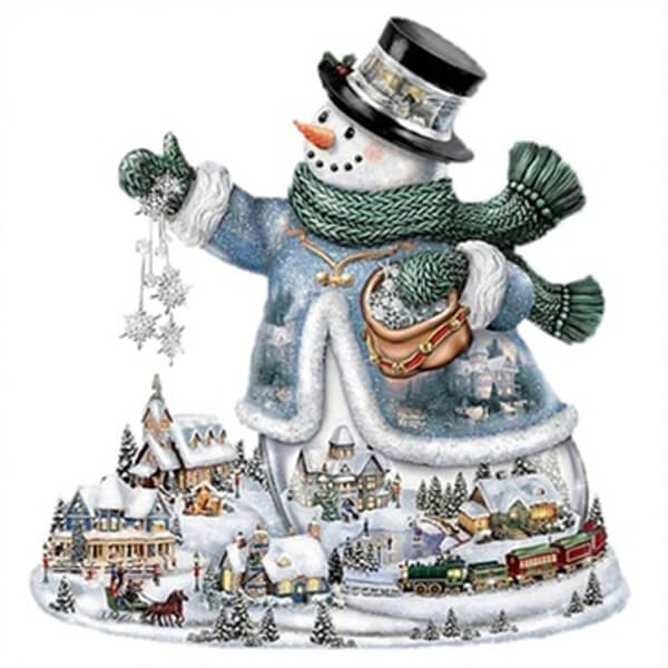 Diamond Painting Light of Peace Snowman - OLOEE