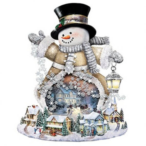 Diamond Painting Christmas Snowman Art - OLOEE