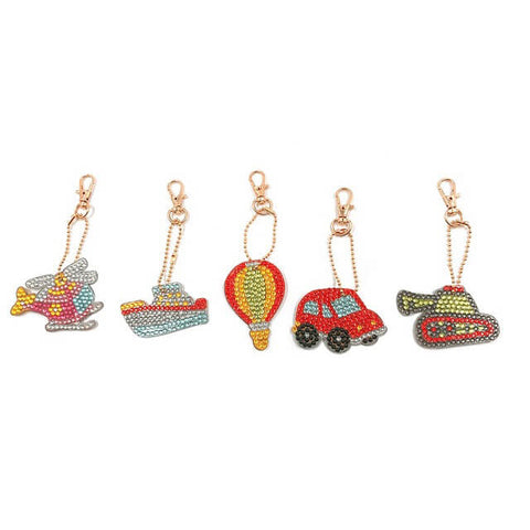 Diamond Painting Vehicle Keychains 5pcs/set - OLOEE