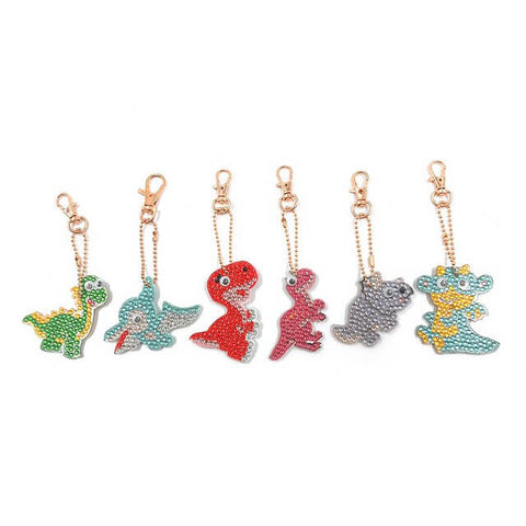 Diamond Painting Dinosaur Keychains 6pcs/set - OLOEE
