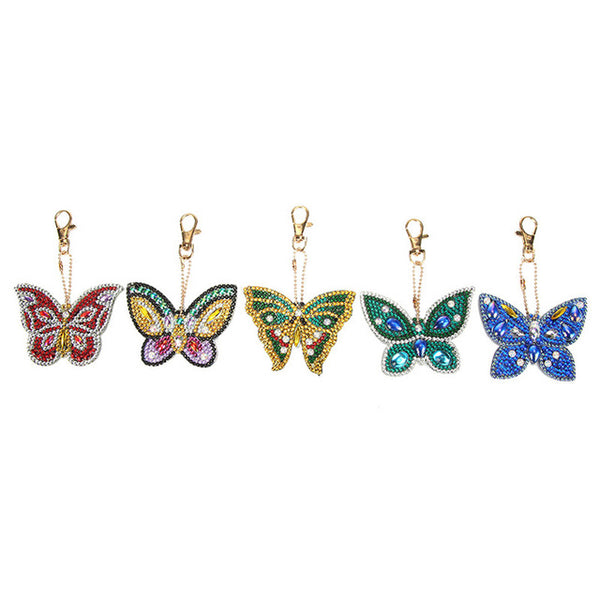 Diamond Painting Butterflies Keychains 5pcs/set - OLOEE