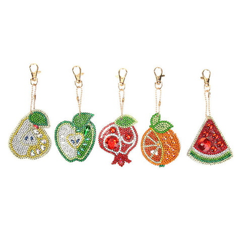 Diamond Painting Fruit B Keychains 5pcs/set - OLOEE