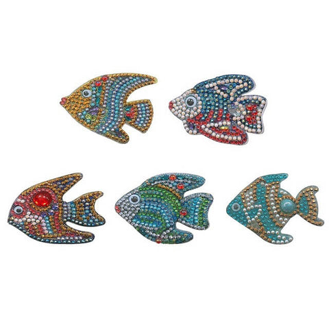 Diamond Painting Fish Keychains 5pcs/set - OLOEE