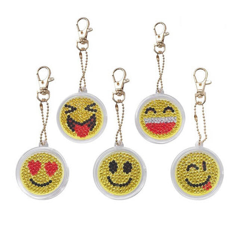 Diamond Painting Emoji Keychains 5pcs/set - OLOEE