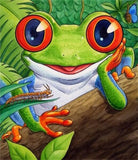 Diamond Painting Cartoon Frog - OLOEE