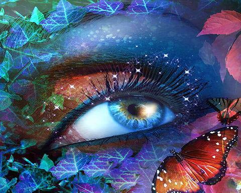 Diamond Painting Colorful Eye Butterflies - OLOEE