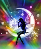 Diamond Painting Colorful Moon Fairy - OLOEE