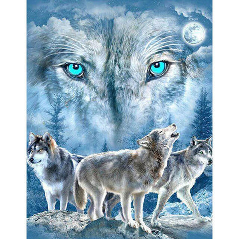 Diamond Painting 5D Wolf Eyes - OLOEE
