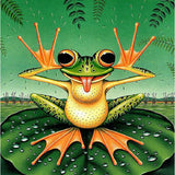 Diamond Painting Naughty Frog - OLOEE