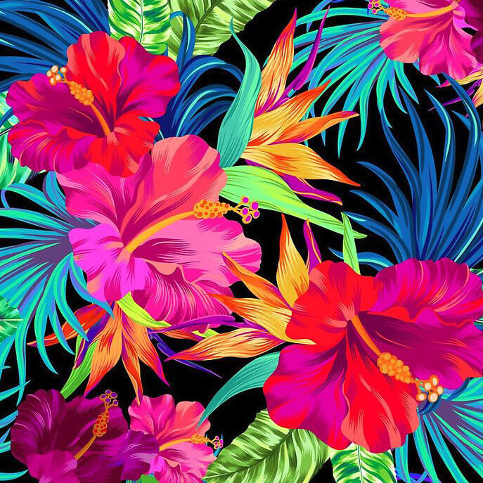 Tropical Flowers 5d Diamond Painting Kits Oloee
