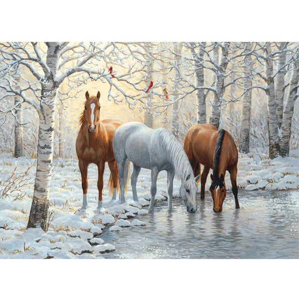 Diamond Painting Horses In Winter - OLOEE