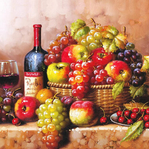 Diamond Painting Fruit and Wine - OLOEE