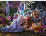 Diamond Painting Tiger and Fairy - OLOEE