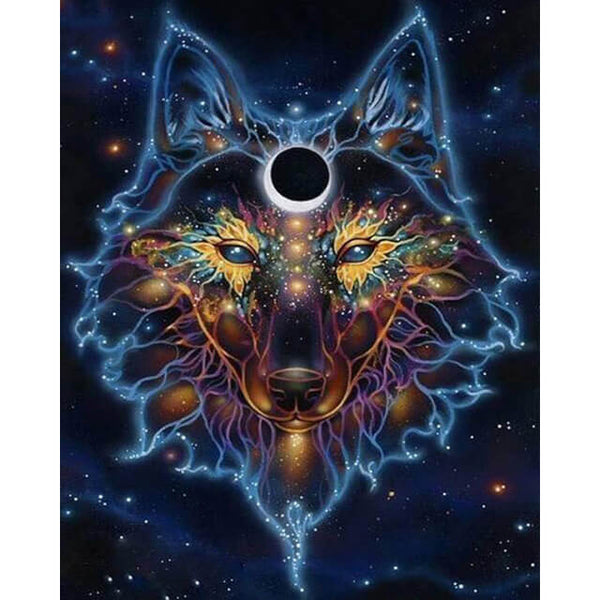 Diamond Painting Wolf Spirit Moon - OLOEE