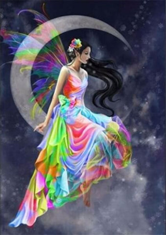 Diamond Painting Sky Moon Fairy - OLOEE